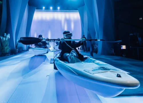 simulateur sport kayak animations innovantes