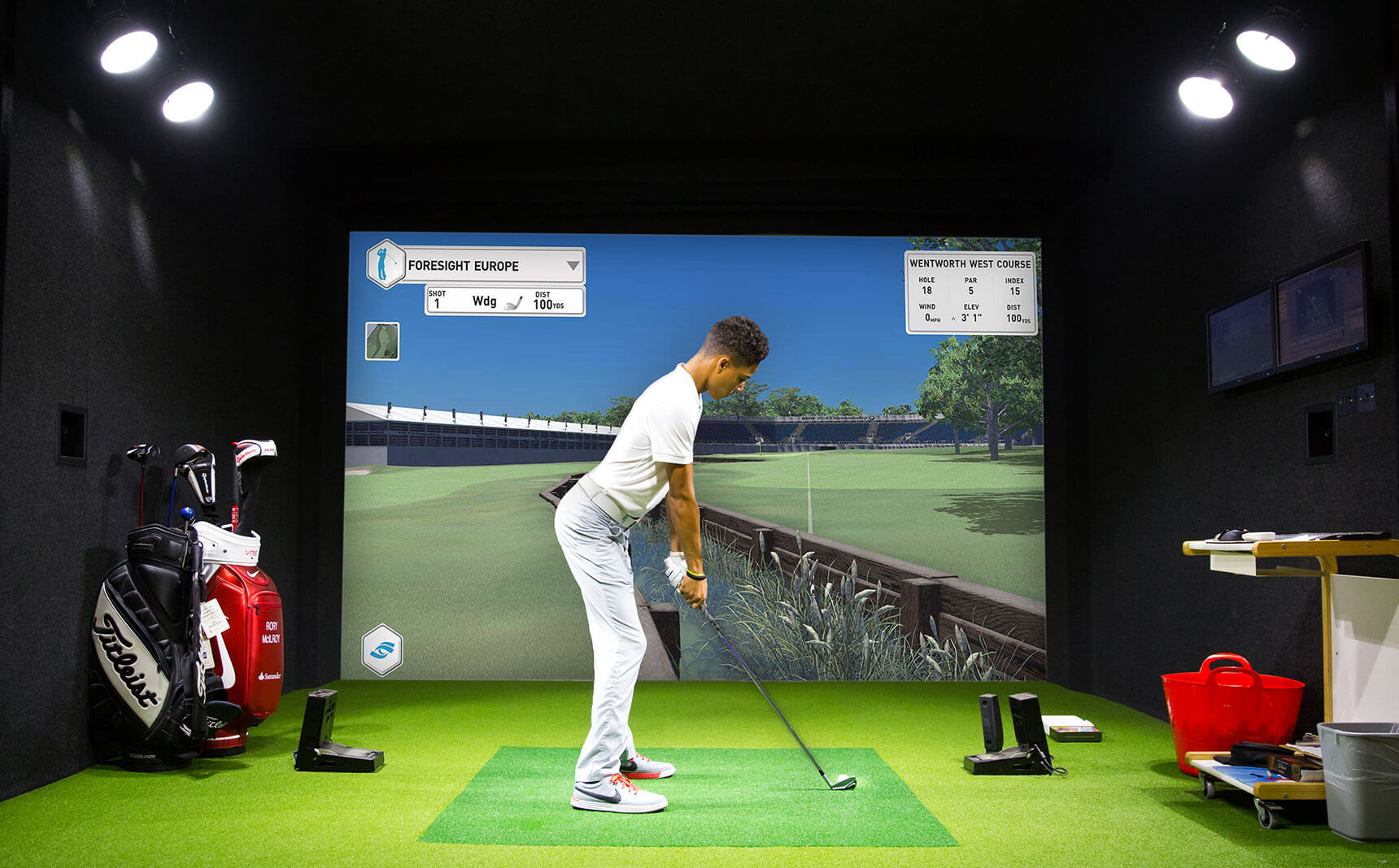 golf simulateur animations innovation