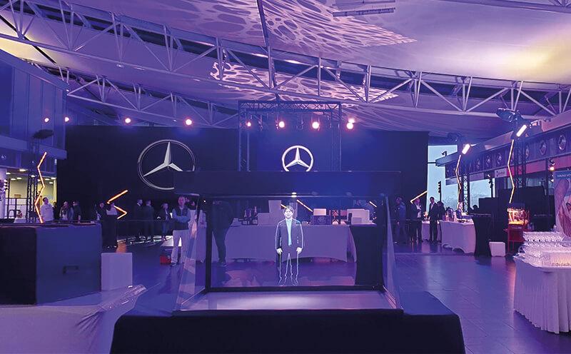 Hologramme Mercedes