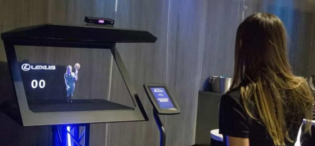 => Un photobooth holographique sur son salon professionnel ?